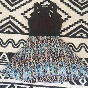 🎉3/$15🎉 [Bailey Blue] Boho Racerback Dress